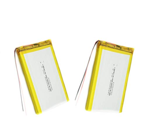 RFGTYH 3.7V 606090 4000mAh Rechargeable Lipo Battery Tablet Dvd Camera GPS Electric Toys Laptop Lithium Polymer Battery 2PCS