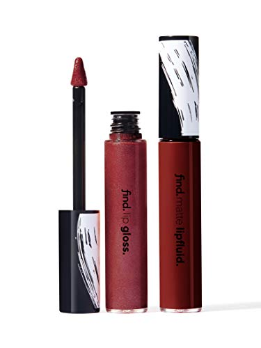 Marchio Amazon - find. Queen of Hearts (Rossetto liquido matte n.2 + Lucidalabbra n.2)