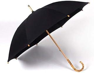 BEESCLOVER Hot Sale Bamboo Rattan Long Men Retro Handle Large Rain Umbrella Strong 8K Windproof Parasol Black One Size