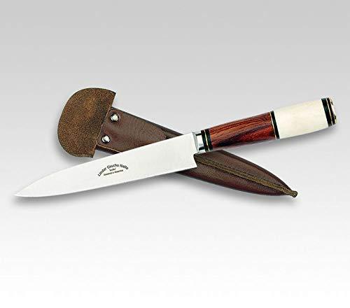 Linder Gaucho Messer , Outdoormesser , Jagdmesser , 456016 , Klingenlänge: 14,0 cm , 420 Klingenstahl , Knochen | Messer für, Camping, Abenteur, Wandern