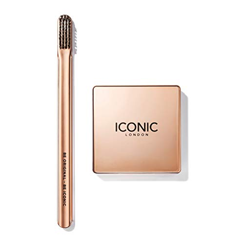 ICONIC London Brow Silk & Brush Bundle - Pasta Fissante per Sopracciglia e Spazzolino, 5g