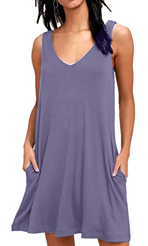 BISHUIGE Women's Bathing Suit Cover Ups Large, Lavender