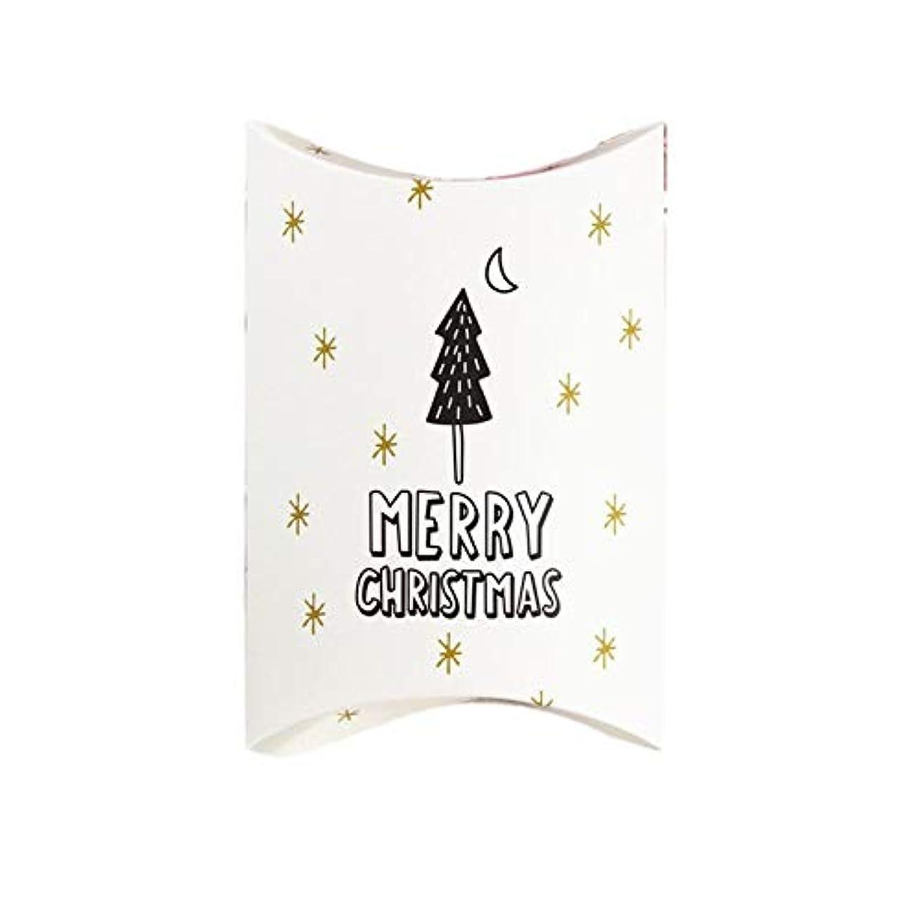 セッティング貸し手どこクリスマス箱の枕形のギフトの包装のカートンキャンデーのギフト用の箱クリスマスパーティーのための自然な枕箱のキャンデー箱