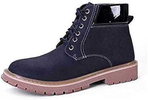 Oudan Cordones de Invierno Impermeables de Inglaterra para Hombre, botas de Viento, clásico Casual, 43 (color   -, tamaño   -)