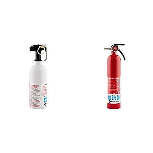 First Alert Fire Extinguisher | Kitchen Fire Extinguisher, White, KITCHEN5 and First Alert 1038789 Standard Home Fire Extinguisher, Red