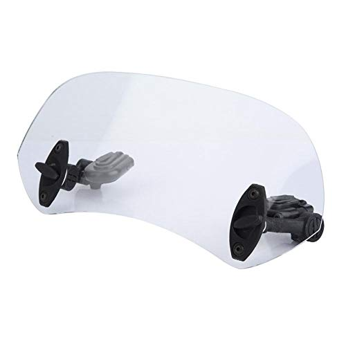 EBTOOLS Parabrisas y deflectores de viento, deflector de aire universal de parabrisas modificado para motocicleta(Transparente)