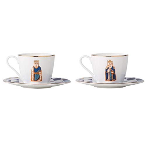 kerryshop Becher European Style Bone China Kaffeetasse und Untertasse Set (2-teiliges Set) Kreative Einfache Cappuccinotasse mit Phnom Penh Latte Mokka Spezial-Kaffeetasse Trinkbecher (Color : C)