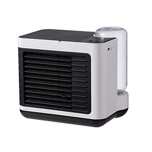 ZBQLKM Ventilador de aire acondicionado portátil, ventilador de aire acondicionado portátil de 5 en-1, refrigerador evaporativo recargable de 2000mAh, luz de noche USB grabación de 3 velocidades, adec