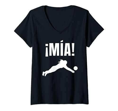 Mujer Voleibol Divertido Vóley Mía! Camiseta Cuello V