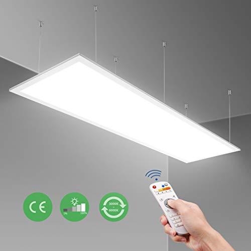 Anten 40W led panel farbwechsel , Deckenlampe 120x30 , LED Panel dimmbar,Büroleuchte für Laden, Büro, Wohnzimmer,Farbtemperatur Einstellbar Warmweiss- Kaltweiss (2700-6500K)