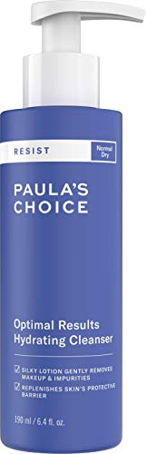 Paula's Choice Resist Anti Âge Nettoyant Hydratant Visage - Élimine le Maquillage & les Imperfections - pour la Peau Douche et Hydratée - Peaux Normales à Sèches - 190 ml