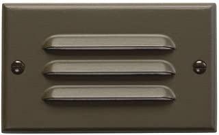 Kichler 12600AZ Step and Hall 120V LED Step Light Horizontal Louver, Architectural Bronze