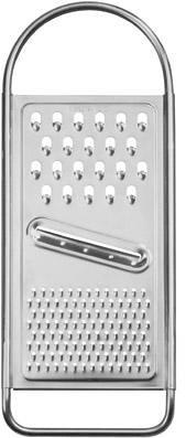 Fackelmann Universalreibe, Gurkenhobel aus rostfreiem Edelstahl mit extrascharfer Klinge (Farbe: Silber), Menge: 1 Stück