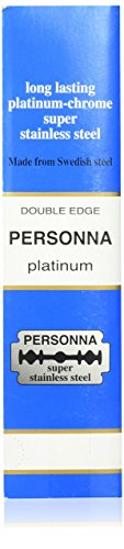 200 TWO HUNDRED Personna Platinum Double Edge Razor Blades - Made from Swedish Steel