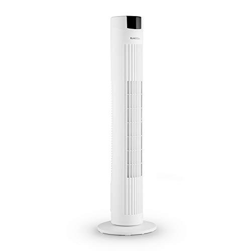 KLARSTEIN Skyscraper 2G - Ventilador de Columna, Potencia 40W, Flujo de Aire 820 m³/h, Oscilación, Mando a Distancia, Programable, 3 velocidades, Panel táctil, Silencioso, Filtro Integrado, Blanco