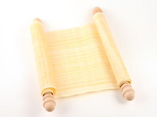Schriftrolle Papyrus - Forum Traiani - Aegyptischer Papyri blanko auf zwei Holzstangen 120x20cm