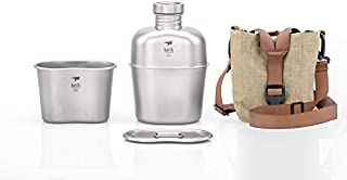 Keith Titanium Ti3060 Canteen Mess Kit - New Ultralight Carrying Pouch
