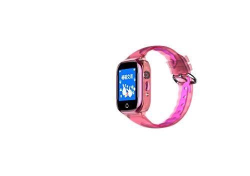 [SIM Card Included] Smart Watch GPS Tracker for Kids - IP67 Waterproof Smartwatch Phone for Boys Girls - LBS/GPS Tracker Locator Watch with SOS Call Voice Chat Camera Games for Birthday Gifts, Pink