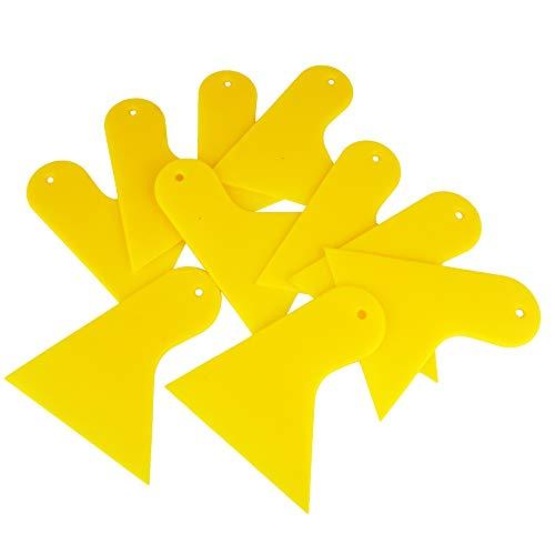 Ewrap 10 Stuks Plastic Schraper voor het verwijderen van Stickers Stickers, Plastic Spreader voor het aanbrengen van vulstoffen, Putties, Glazes, Caulks en Verf