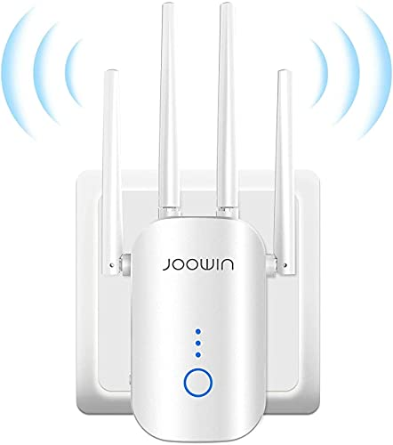 JOOWIN WiFi Extender AC1200 WiFi Booster Range Extender DualBand 2.4GHz&5GHz WiFiBooster, WirelessSignalRepeater with EthernetPort, Support Repeater/AP/Router Mode, Easy to Install, UKPlug