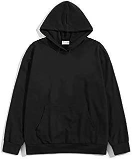 THE SV STYLE Unisex Plain Hoodie/Plain Red Hoodie/Hoodie for Men & Women/Warm Hoodie/Unisex Hoodie (Black, Small)