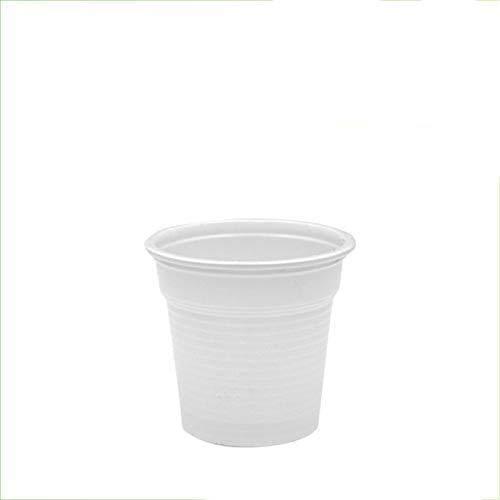 Palucart - 1000vasos de plástico blanco, 80 cc, para café de bar,...