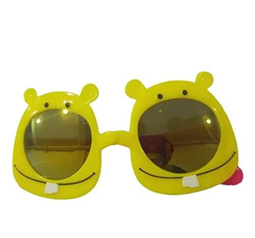 Yuhualiyi123 2 Paare Hippy Specs Brille Karikatur Tierform Sonnenbrille Für Hippie Kostüm Zubehör, Kunststoffrahmen (Color : Yellow)