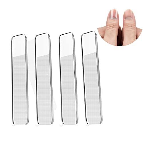 Nano-glas Glasnagelfeile 4 Stück Professionelle Nagelfeilen für Naturnägel,Nagelstudio starterset,Babys,Kinder,Erwachsener und Pediküre Nagelpflege,Kristall Glasfeile