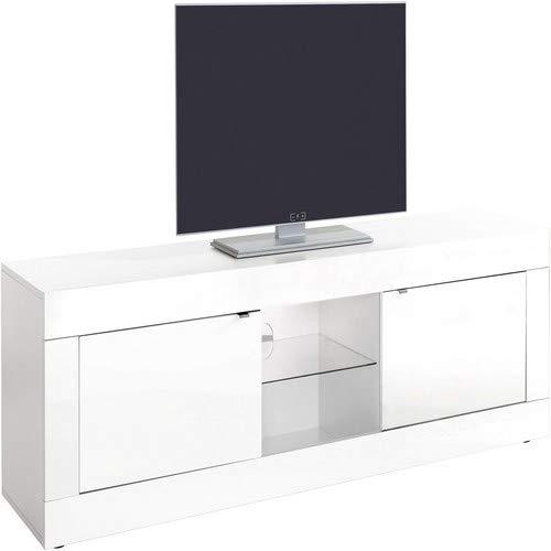 L&C, Basic, Base TV, Bianco, 180 x 42 x 56 cm