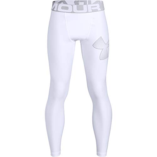 Under Armour HeatGear Leggings, YXS, jongens Armour, wit, maat