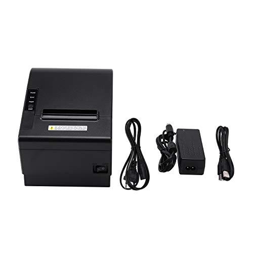 Didad Impresora PequeeA Pos 200Mm / S 80Mm Impresora TéRmica de Recibos con Puerto USB LAN Ethernet Cortador AutomáTico Bill Enchufe de la UE