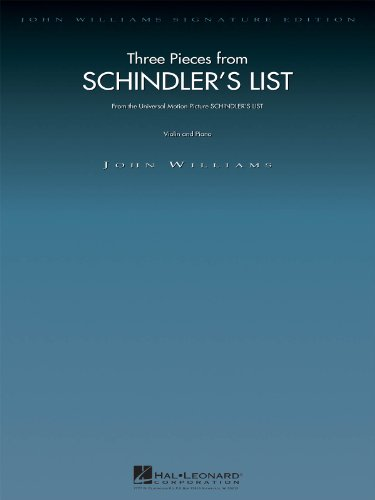 Schindlers List 3 Pieces From Violin & Piano (Williams J) (Album): Partitur, Stimmensatz für Violine, Klavier: 3 Pieces for Violin and Piano