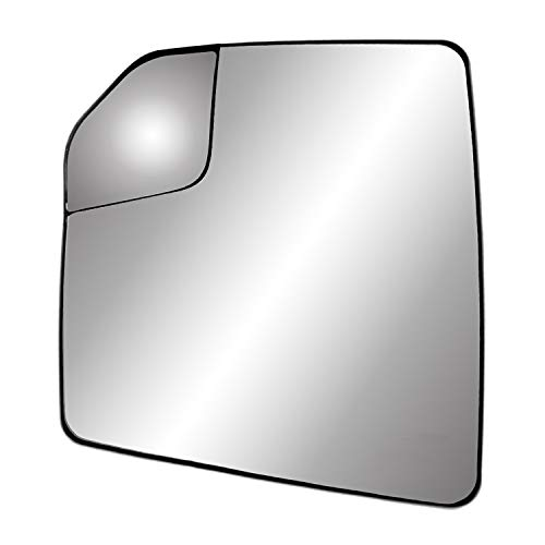 """Driver Side Non-Heated Mirror Glass w/Backing Plate, Ford F150 Adjustable spot Mirror, w/o Tow pkg, w/o auto dimming, w/o Blind spot Detection System, 7 15/16"""" x 7 3/16"""" x 9 1/2"""""""