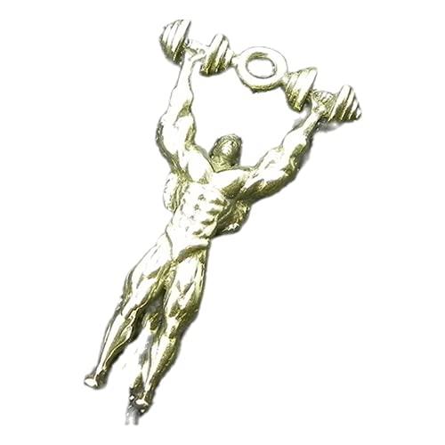 Mancuerna Hercules retro latón macizo llavero gancho accesorios llavero llavero hecho a mano cobre llavero cartera cadena EDC coche llavero para hombre y mujer
