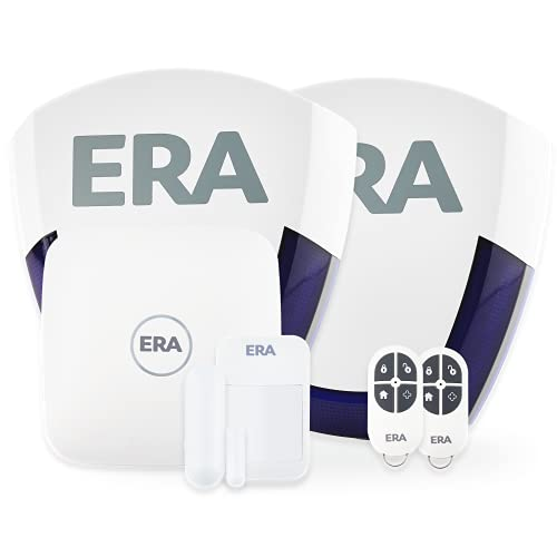 ERA Protect Deter Plus Smart Home Security Alarm, Self Monitored, No Contract, Wireless, Featuring Window/Door and Movement PIR Sensors, Live & Dummy Siren, Compatible with Alexa