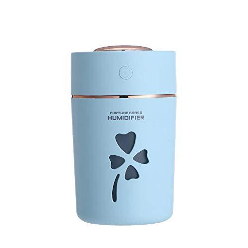 TangLong 280 ml ultraschall luftbefeuchter ätherische öle für aromatherapie diffusoren USB Auto luftbefeuchter Mini Bunte led Lichter büro-Blau