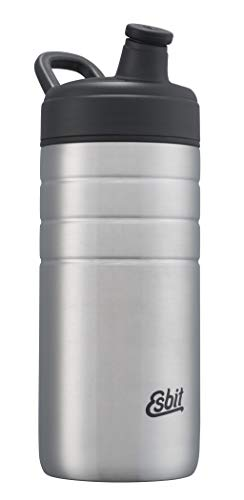 Esbit Sports Drinking Bottle Majoris | Stainless Steel | BPA-Free | Silver | 0,6L & 0,8L | School, Water, Cycling, Sport