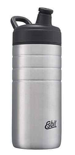 Esbit Sports Majoris Gourde en acier inoxydable sans BPA Argenté 0,6 l 0,8 l, Mixte - Adulte, DBS600TL-S, Argent (Silver), 0,6 l