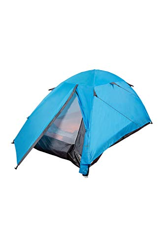 Mountain Warehouse Festival Dome 2 Man Camping Tent - Water Resistant Backpacking Tent Turquoise