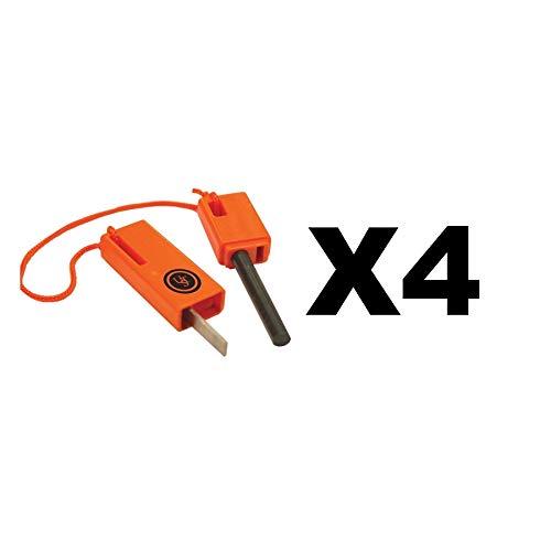 Ultimate Survival Technologies SparkForce Fire Starter Orange Striker (4-Pack)