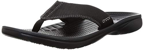 Crocs Men's Bogota Black Flip-Flops-8 UK (42.5 EU)(9 US)...