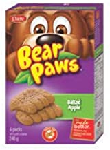 Dare Bear Paws Baked Apple Soft Snack Cookies, 240g/8.5oz, (Imported from Canada)