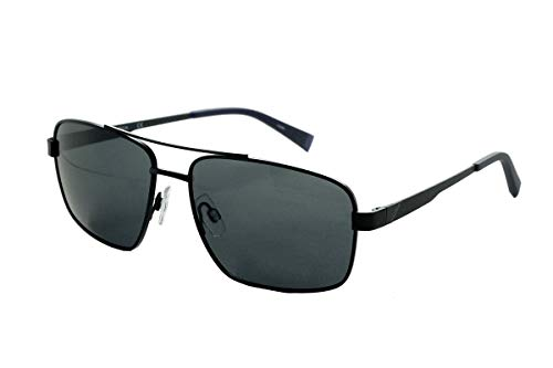 Nautica N5119S Sonnenbrille, Metall, matt, schwarz, Unisex, Erwachsene, mehrfarbig, Standard
