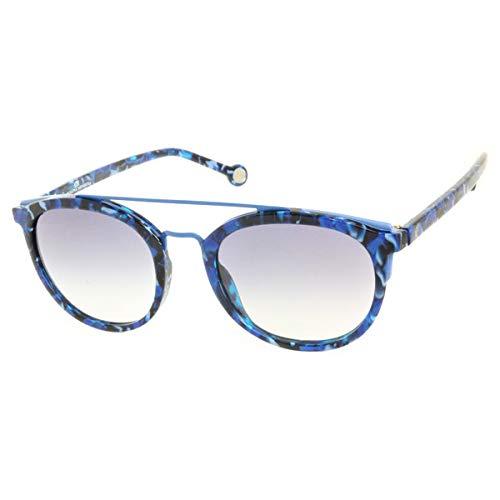 Carolina Herrera She74106Dq Gafas de Sol, Azul, 52 para Mujer