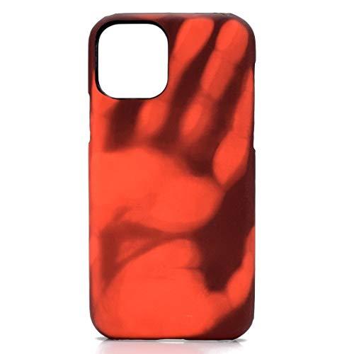 DOMINIC Huaat - Piel de Paso + PC Thermal Sensor Discoloration Funda de protección Trasera for iPhone 11 Pro (Black se vuelve Rojo) Carcasa de telefono (Color : Red Turns Yellow)