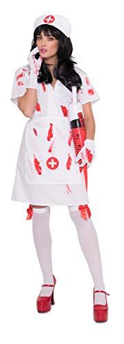 Folat - Disfraz para mujer enfermera zombie (23732)