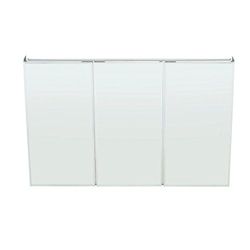 Pegasus SP4590 31-Inch by 48-Inch Tri-View Beveled Mirror Medicine Cabinet, Clear