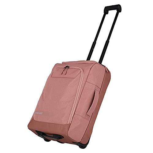 travelite trolley da viaggio dimensione S come bagaglio a mano, serie di valigie KICK OFF: pratica borsa da viaggio con ruote per le vacanze e lo sport, 55 cm, 44 litri, colore rosato