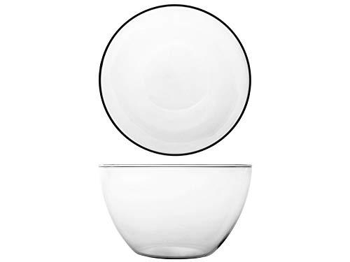 H&H 821806 Bowl Set van 6 kommen, borosilicaatglas, 18,5 cm