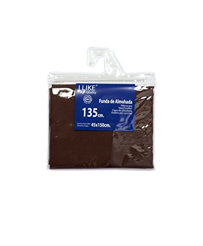 I LIKE Funda DE Almohada Chocolate 100% ALGODÓN Cama 135 (45 X 150 cm)